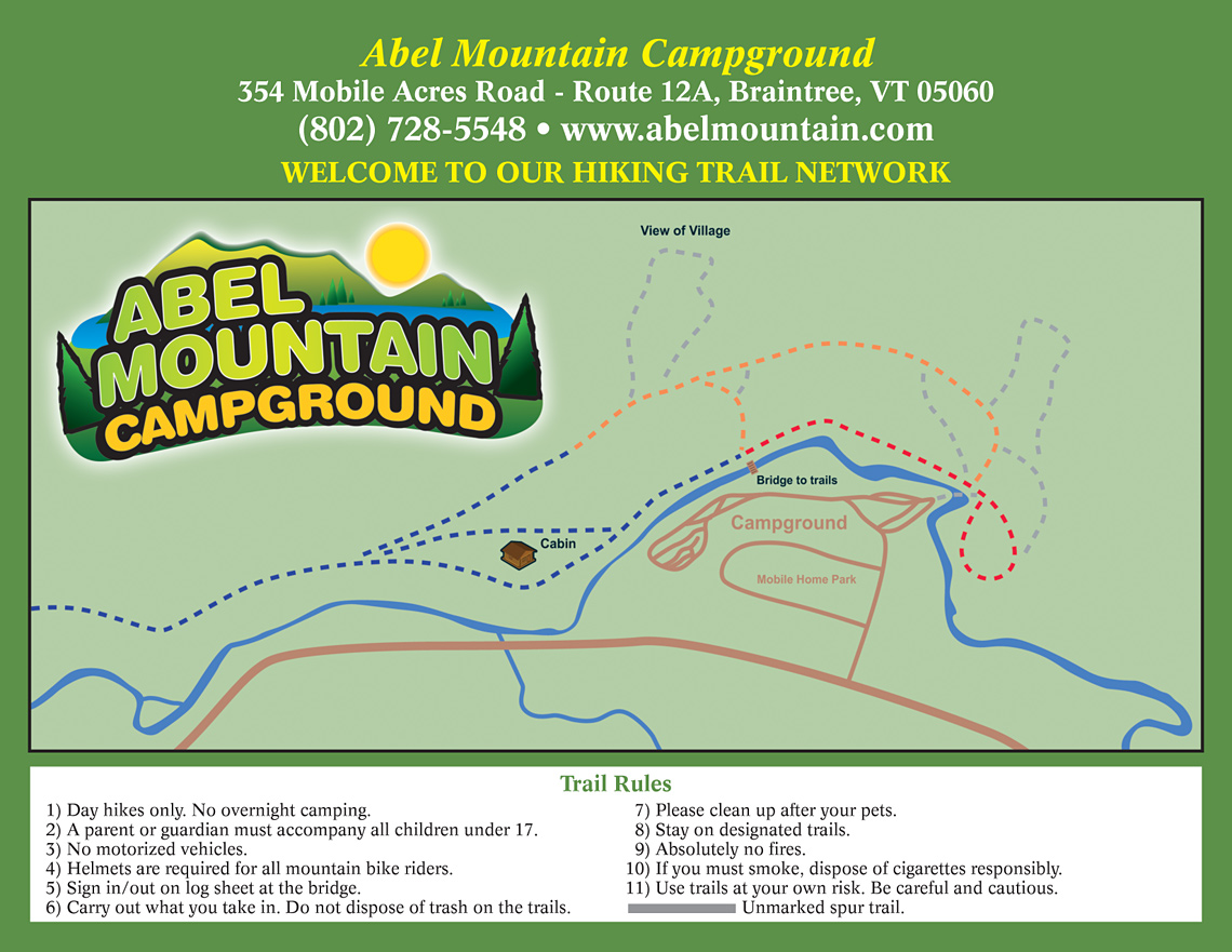 Abel Mountain Trail Map